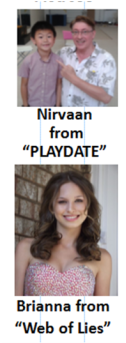 Playdate TV star Nirvaan and actress Brianna from TV program