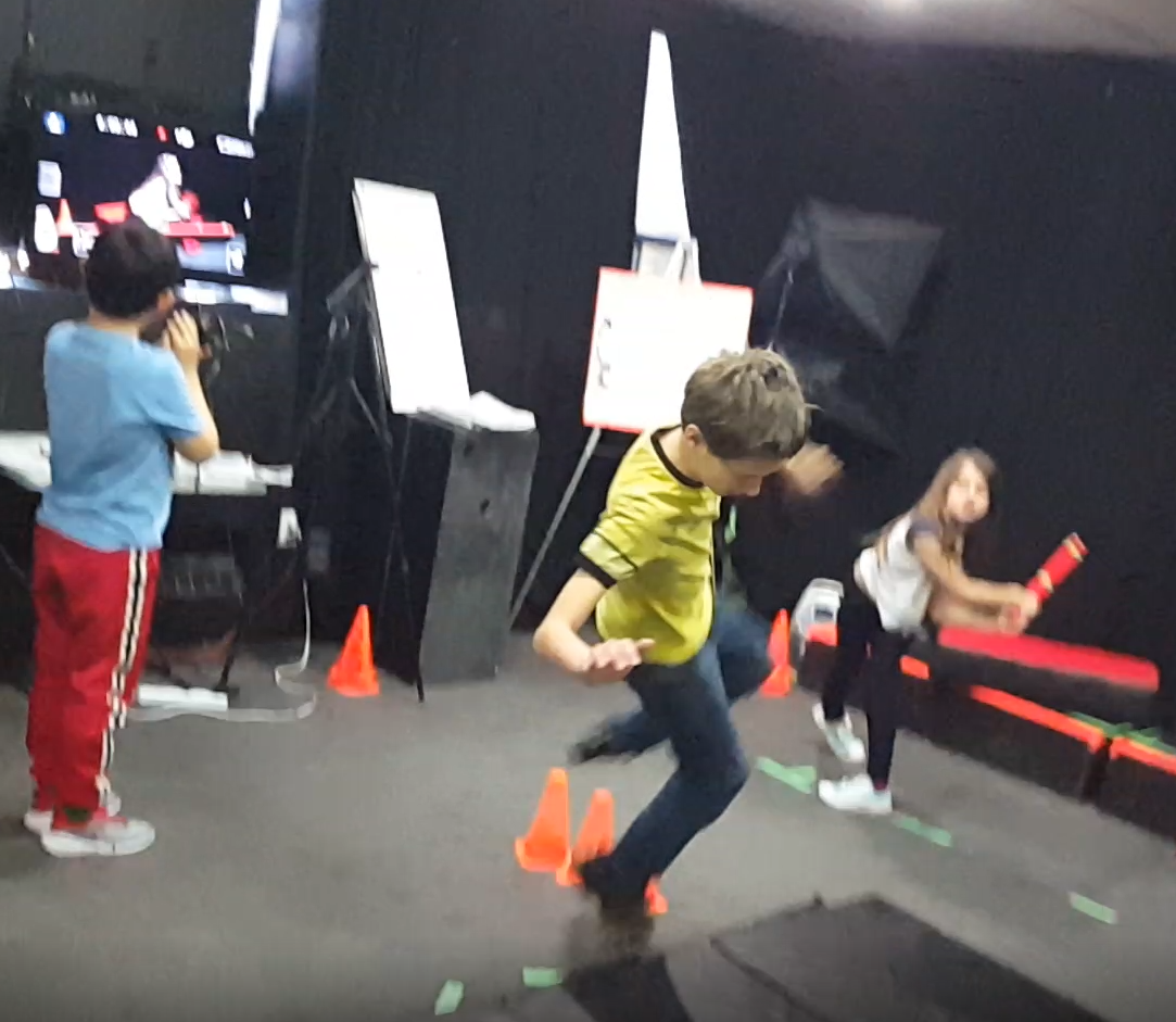 Kids learning stunts at Thornhill Acting Studio