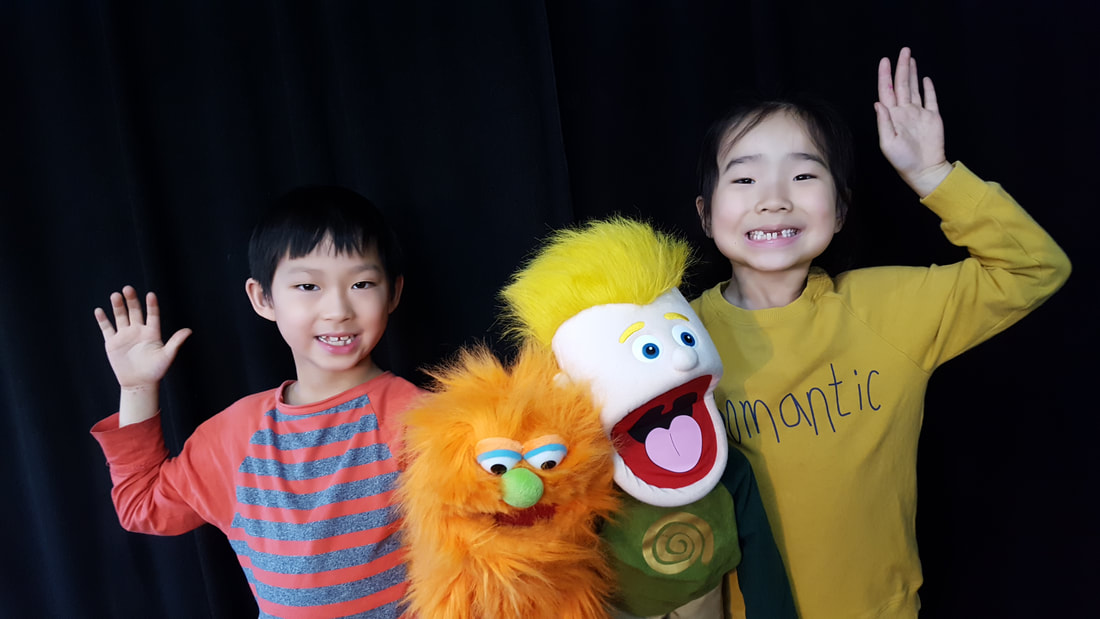 Kids with Puppets at Thornhill Acting Studio